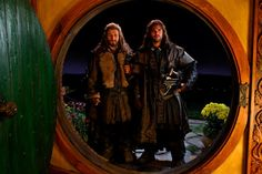 Still of Dean OGorman and Aidan Turner in The Hobbit: An Unexpected Journey
