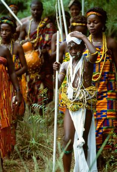 "Africa | Krobo Female Initiate.  Ghana, 1992.| ©Carol Beckwith & Angela Fisher. Publication ""African Ceremonies"""
