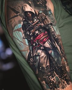 Assassins Creed tattoo by Luka Lajoie