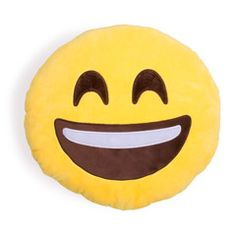 Extra Happy Emoji Pillow