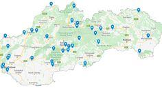 Zabudnúť na cestovanie do zahraničia? Týchto 35 miest na Slovensku ti ho pripomenie - TripLovers Pamukkale, Route 66, Diagram, Map, World, Location Map, Maps, The World
