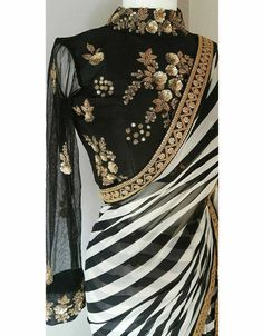 Saree:jyorjett weightless printed saree+ heavy embroidery unsttiched blouse