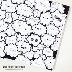 Cute Little Clouds ~ Full Page Doodle www.youtube.com/piccandle
