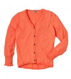 Sweater  Ruum Big Girls' 5-14 High Low Cardigan Swtr Neon Peach L 12 Get Rabate