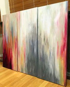Rebecca Joyce My original Three panel canvas modern acrylic painting. #art #painting #rjoyceart