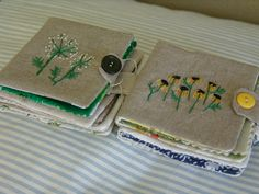 embroidered needle-books