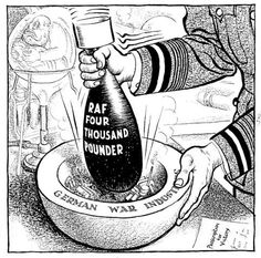 Caricature de Leslie Illingworth paru dans le Daily Mail le 26 mai 1943