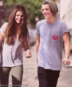 https://flic.kr/p/csREU7 | harry styles and selena gomez manip | excuse me while i die at how perfect this is {belongs to selenamakemesmile.tumblr.com}