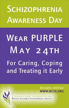 Purple Day - a reason to hope, a reason to cope #schizophrenia #awareness