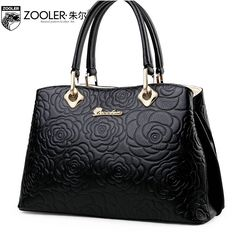 88.40$  Watch here - http://alit8b.worldwells.pw/go.php?t=32520677726 - ZOOLER women genuine leather bag brands fashion Embossed top quality Head layer cowhide women handbags shoulder messenger bag 88.40$