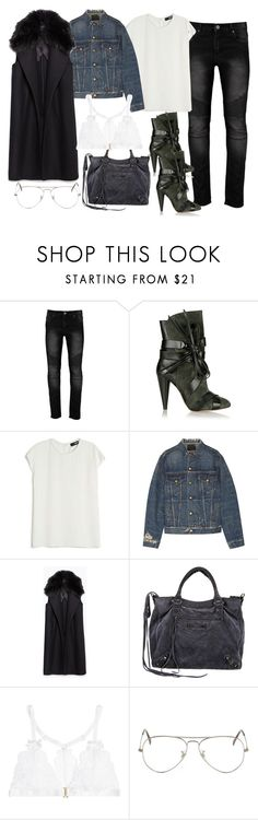 """Untitled #3326"" by dkfashion-658 ❤ liked on Polyvore featuring Isabel Marant, Nicholas, R13, Zara, Balenciaga, L'Agent By Agent Provocateur and Ray-Ban"