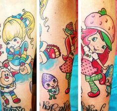 Rainbow bright and strawberry shortcake were my favorite when I was little so would get this tattooed!