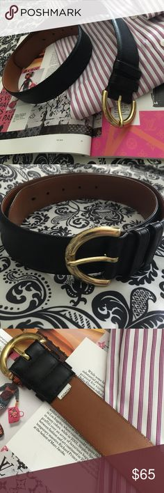 """🌸 Coach leather belt M Authentic Coach leather belt handcrafted in Costa Rica of glove-tanned cow hide and solid Brass. Size Medium. 1.5"""" wide. Length is 28"""" to shortest hole, 32"""" to longest hole. 5 holes to adjust length each 1"""" apart.  This belt is in excellent condition for being used once.  Very soft leather. On backside you can see some slight cracking or wrinkling from belt being rolled up. Coach Accessories Belts"""