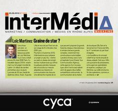 #cyca // Nouvel article sur C Y C A dans le Spécial Agences du magazine Intermedia.