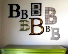 Shabby Nest: The Letter B: A Wall Collage for the Boys' Room~
