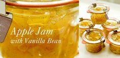 Apple Jam with Vanilla Bean Jelly Recipes, New Recipes, Favorite Recipes, Preserving Apples, Apple Jam, Fermentation Recipes, Vanilla Beans, Freezer Food, Fruit Preserves