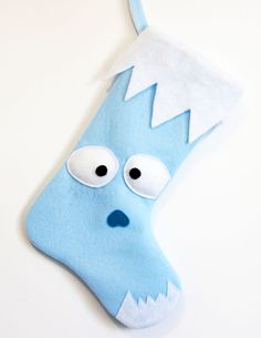 Yeti / Abominable Snowman Stocking. $24.00, via Etsy.