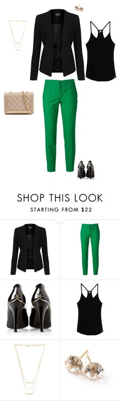 """""""Casually Green"""" by keeshj ❤ liked on Polyvore featuring Topshop, Dolce&Gabbana, Chanel, Rip Curl, Gorjana, Ippolita and ALDO"""