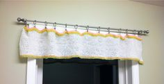 Crocheted valance for the laundry room