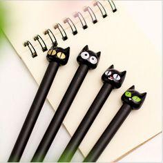 2pcs/lot Sweet cute Black Cat design gel pen /stationery office school supplies papelaria WJ0123