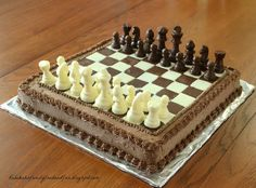 Family, Food, and Fun: Chess Cake - and our Boy turns 9 Unique Cakes, Creative Cakes, Cupcakes, Cupcake Cakes, Birthday Cake For Husband, Cake Birthday, Birthday Ideas, Chess Cake, Cake Designs For Kids