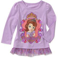 Baby Girls' Licensed Fashion Ruffle Tee: Baby Clothing : Walmart.com