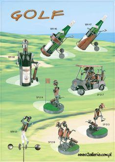 Wózek do gry w GOLFA | Stojak pod Butelkę | Niepowtarzalny upominek dla miłośnika gry w Golfa