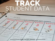 Research shows that when students track their own learning and data, they perform better. Teacher Organization, Teacher Tools, Teacher Resources, Teacher Binder, Data Binders, Data Notebooks, Student Data Tracking, Goal Tracking, Visible Learning
