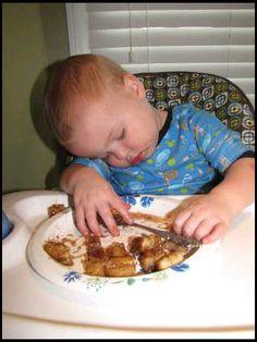 Fell asleep eating, bless his heart.