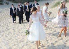 Beachside Wedding for a 1950s Inspired Bride in dress from Fur Coat No Knickers