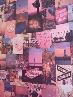 aesthetic collage vsco pink pretty retro kit bedroom