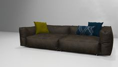 Verna sofa with cushions in espresso | Flickr - Photo Sharing!