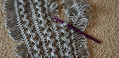 Tips on finishing edges on hairpin lace panels