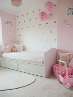 Amelie's Soft Pink and Gold Toddler Bedroom