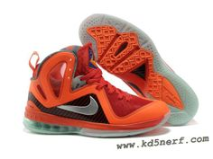Nike LeBron 9 P.S. Elite Red Orange Grey Lebron 9 Shoes 01914096bb