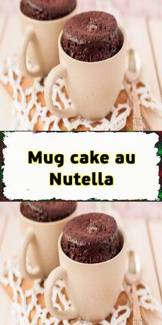 Mug cake au Nutella Mug Recipes, Baking Recipes, Dessert Recipes, Cake Au Nutella, Easy Mug Cake, Hand Painted Cakes, Bowl Cake, Elegant Cakes, Cake Designs