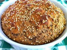 Brown Soda Bread with Steel Cut Oats...easy, healthy, and delicious!