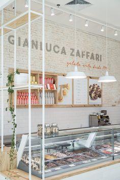 Gallery of Gelateria Gianluca Zaffari / SK Arquitetura - 8 bar konsept Gallery of Gelateria Gianluca Zaffari / SK Arquitetura - 8 Design Shop, Design Café, Coffee Shop Design, Shop Interior Design, Cafe Design, Retail Design, Store Design, Design Ideas, Bakery Design