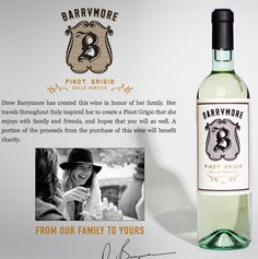 Barrymore Wines was created to honor Drew's family. | 12 Things To Know About Drew Barrymore's Wine