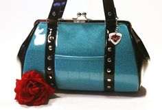 Hey, I found this really awesome Etsy listing at https://www.etsy.com/listing/78094413/sky-blue-sparkle-handbag-with-black