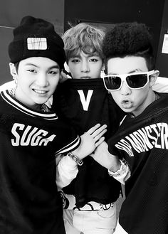 BTS suga, rap monster and v Jungkook V, V Taehyung, Bts Bangtan Boy, 2ne1, Btob, Cypher Pt 4, Bts Predebut, Culture Pop, Bts Rap Monster