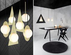 Luminárias, mesas e cadeira com o design contemporâneo de Tom Dixon