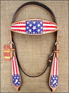 S581 NEW HILASON WESTERN LEATHER HORSE BRIDLE HEADSTALL HAND PAINT US FLAG | Sporting Goods, Outdoor Sports, Equestrian | eBay!