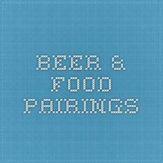 beer & food Pairings