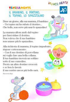 Risultati immagini per filastrocche per bambini piccoli Learn To Speak Italian, Italian Vocabulary, Italian Language, Learning Italian, Nursery Rhymes, Teaching Kids, Fairy Tales, Education, Children