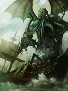 Cthulhu - first published in 'Weird Tales' as a short story in 1928 called 'The Call of Cthulhu' Cthulhu represents humanities underlying despair and anxiety. A number of short stories followed which later became the basis of a religion that is practiced in countries around the world, from NewZealand to Europe and even in Asia.