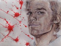 Dexter Morgan Hand Drawn Portrait
