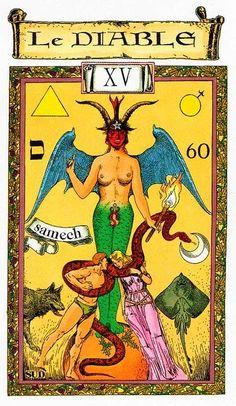 The Devil - Tarot des Templiers by Jean-Louis Victor, Willy Vassaux