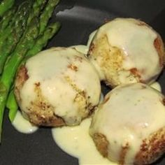 Best Easy Chicken Croquettes Recipe - Breaded chicken patties are accessorized with onion, celery, and seasonings, then fried up and served with an easy cream sauce. Pan Fried Chicken, Breaded Chicken, How To Cook Chicken, Boneless Chicken, Meat Appetizers, Appetizer Recipes, Entree Recipes, Dinner Recipes, Turkey Croquettes