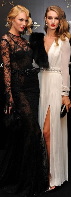 Candice Swanepoel and Rosie Huntington-Whiteley, so much beauty in this picture I can hardly contain myself